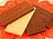 Organic, fair trade, shade-grown Goss chocolate.
