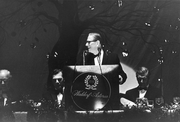 President John Niemeyer at the Humanities Award Dinner, 1969