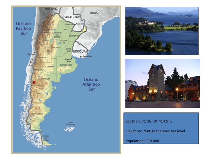 Map and images of Bariloche