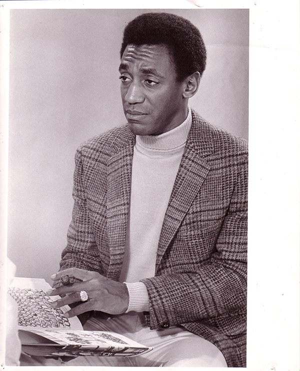 Bill Cosby during a filming for the Reading Incentive Film Series