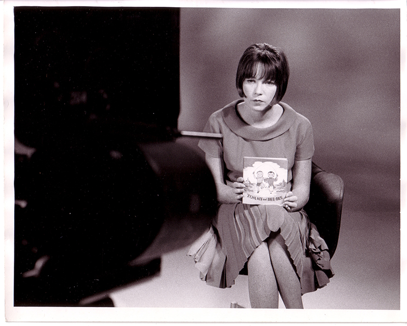 Shirley MacLaine during a filming for the Reading Incentive Film Series