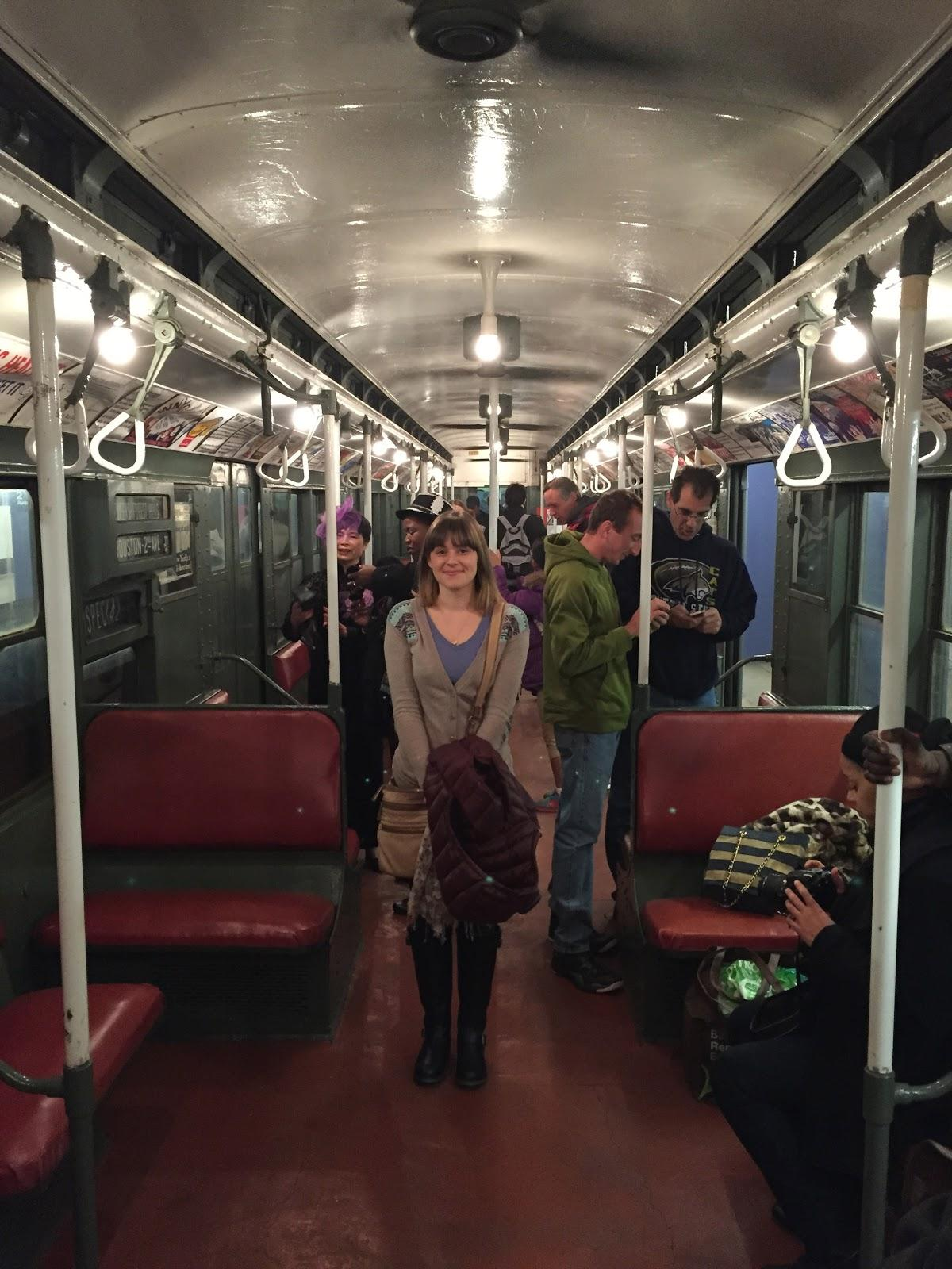 Vintage Holiday Subway Train