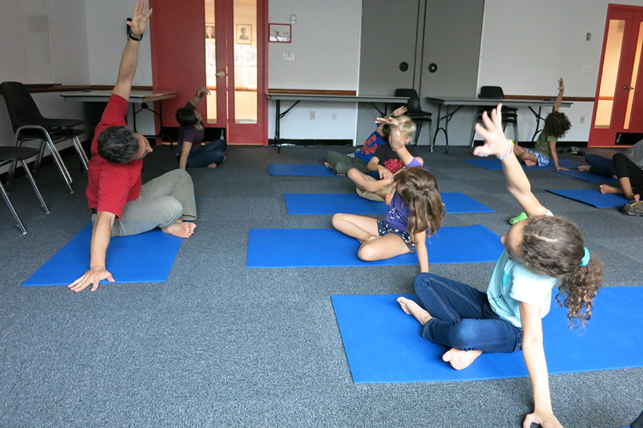 Yoga in Multipurpose Room