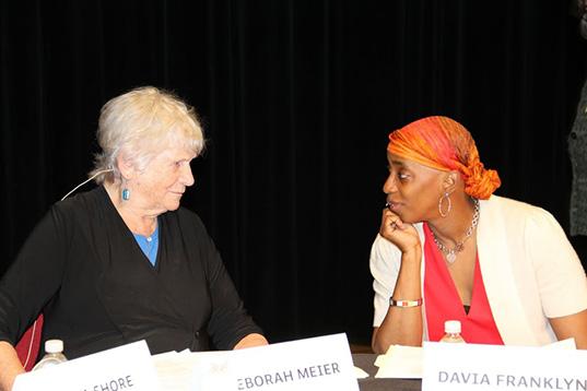 Deborah Meier and Davia Franklyn