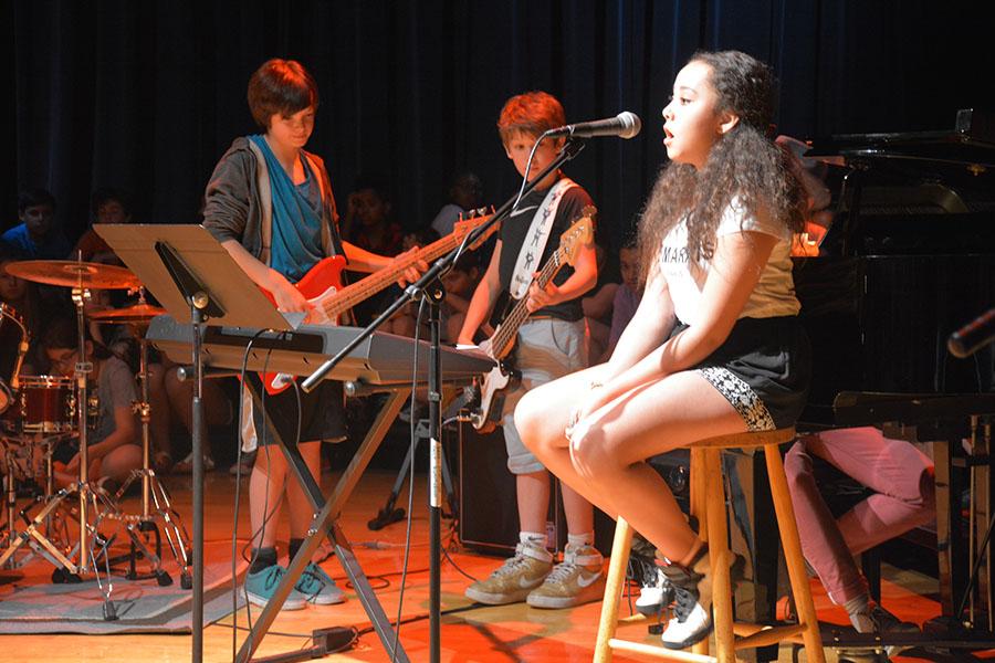 Student sings