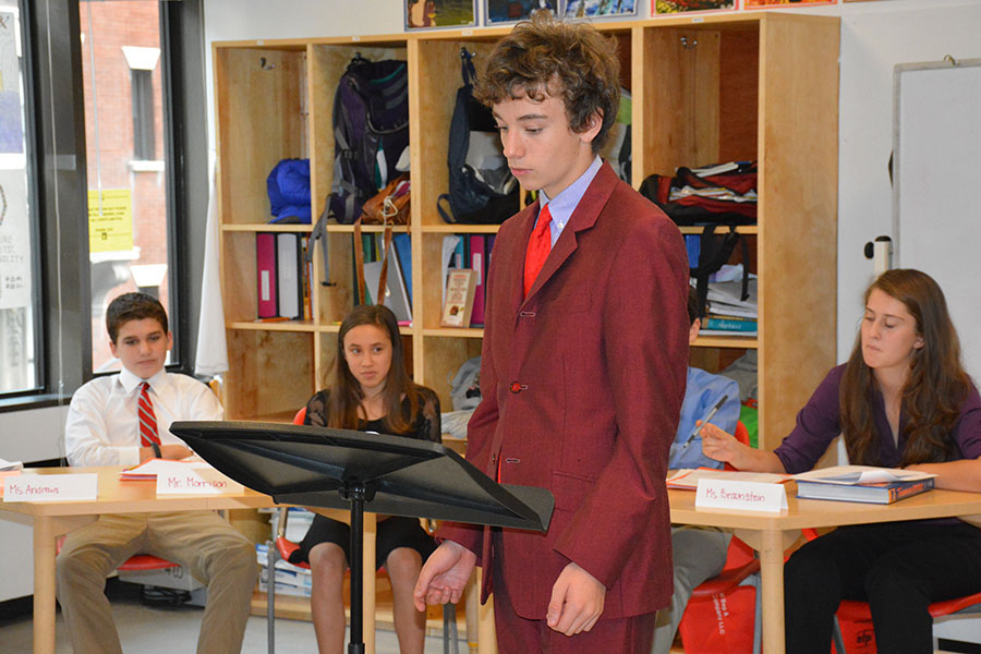 Students participate in a mock trial in the Supreme Court
