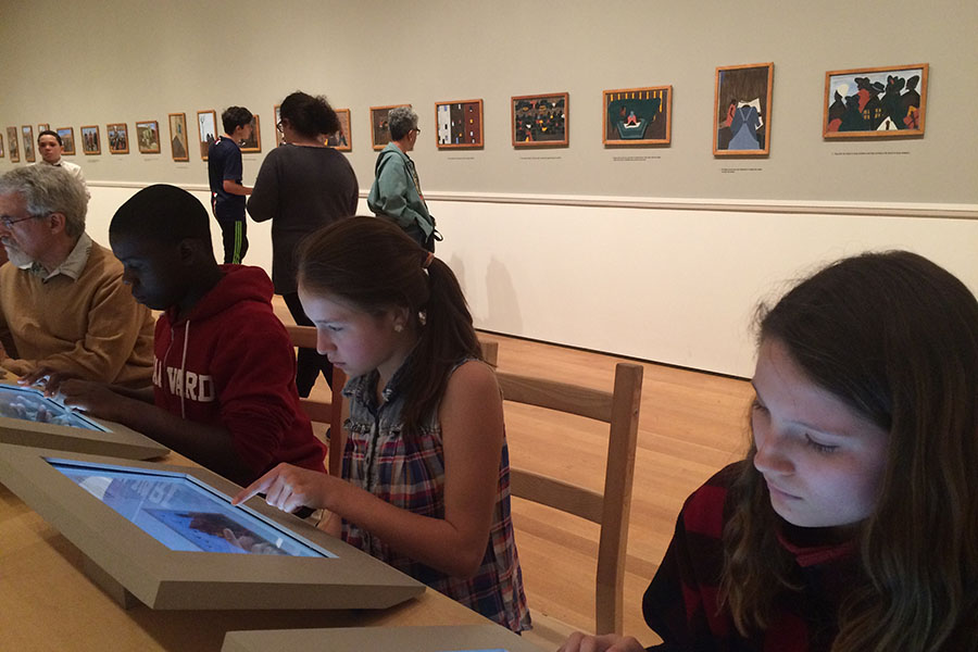 Students uses MoMA's technology to explore the museum