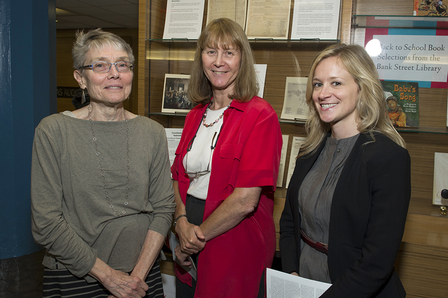 Cecelia Traugh, Dean of the Graduate School of Education, Barbara Coleman, Associate Dean, Johanna Chase