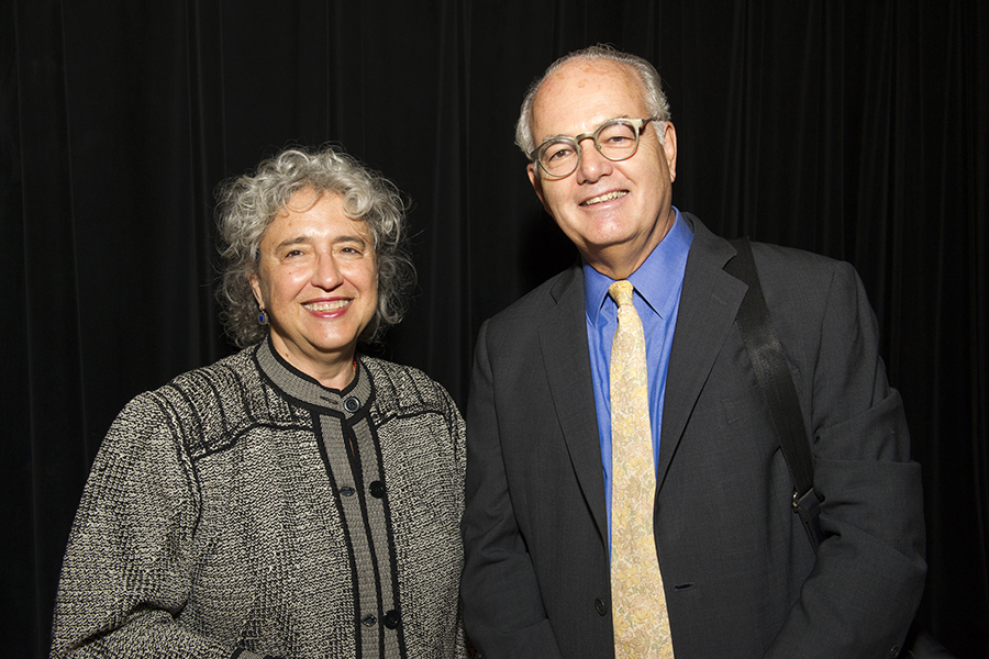 Virginia Casper and Dr. Lawrence Aber