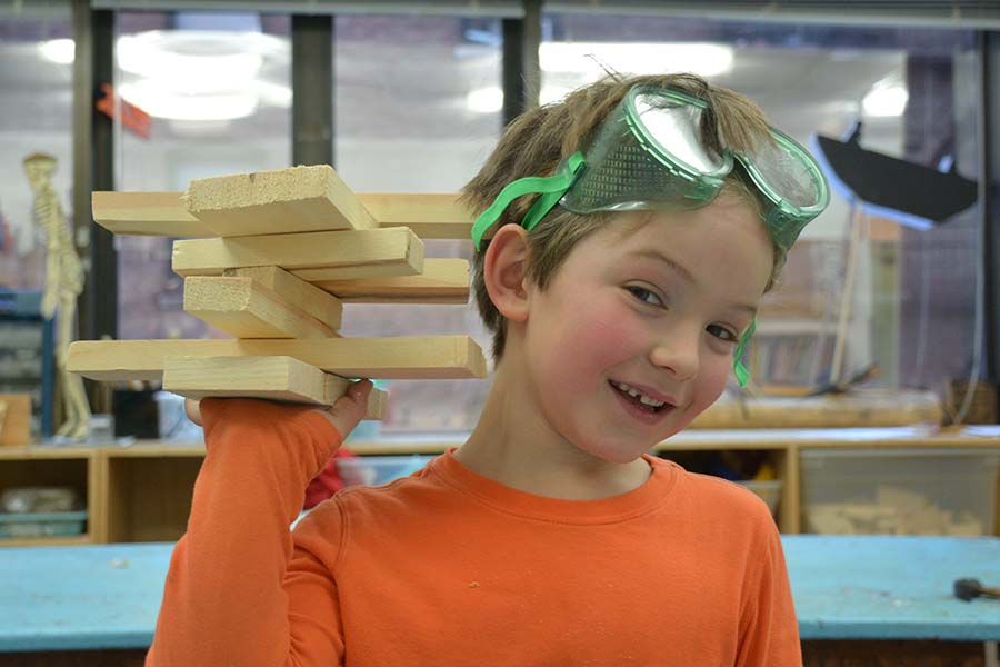 Students get the chance to spend extra time, with the guidance of a Bank-Street-trained teacher, to tackle their own projects, deepen their understanding and sense of mastery with Woodworking.