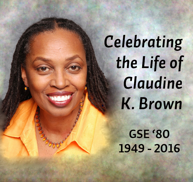 Celebrating the Life of Claudine K. Brown