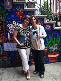 Authors RJ Palacio and Meg Medina