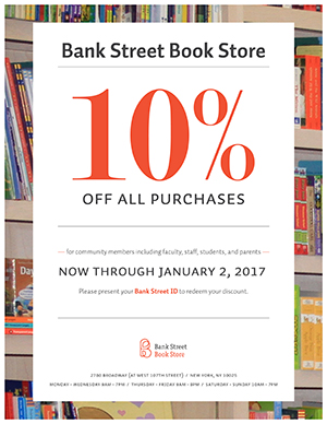 Bank Street Book Store sale flyer