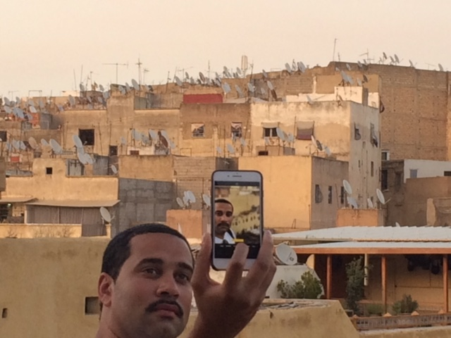 selfie with Moroccan rooftops