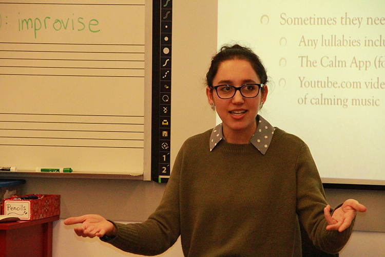 Language Series workshop facilitator Alina Vayner presenting